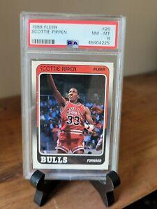 1988-FLEER-SCOTTIE-PIPPEN-20-Rookie-Card-PSA-8-Graded-NM-MT-RC-Card-RARE-HOT