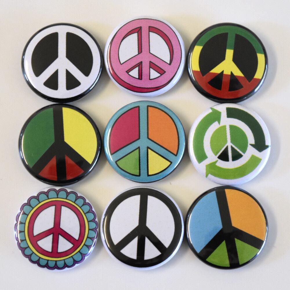 Size 25mm Geek Nerd Girl Badges Buttons Pins x 9
