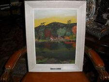 "Thrift Store o/cb painting  artist signed ""Welcome Ranger""by R.Domer;Mid Century"