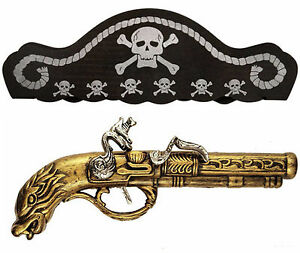 Pirate-Highwayman-Buccaneer-Musketeer-Musket-Gun-Pistol-Hat-Fancy-Dress