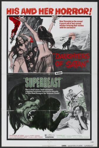 Daughters of Satan /& Superbeast horror movie poster
