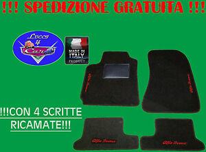 TAPPETINI tappeti Alfa Romeo GTV Spider SU MISURA con ricami e battitacco gomma