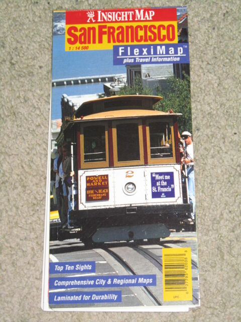USA San Francisco City Map - Insight Fleximap - laminated