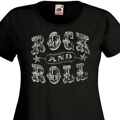 Rock/'n/'Roll note de musique retro 50/'s T-Shirt à manches longues ROCKABILLY