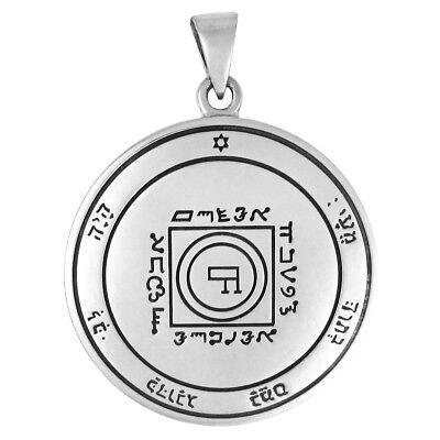 Key of Solomon Sterling Silver 1st Pentacle of Jupiter Talisman Pendant Amulet