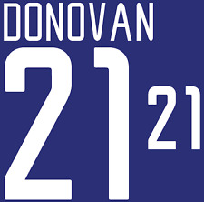 USA Donovan Nameset 2002 Shirt Soccer Number Letter Heat Print Football America