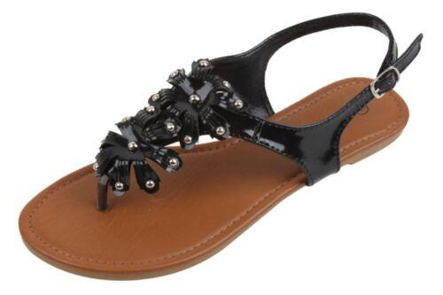 Womens Fashion Roman Thong Gladiator Sandals Black Bronze Silver 5 6 7 8 9 10