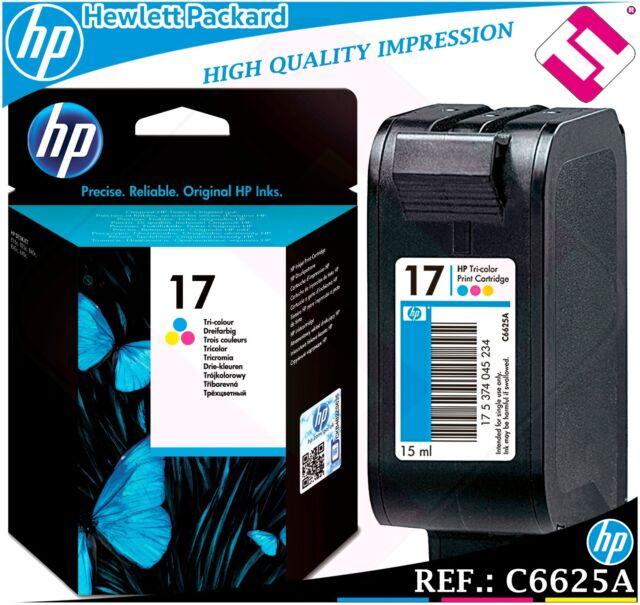 Ink Tricolour 17 Original Printers HP Cartridge Colour hewlett packard C6625A