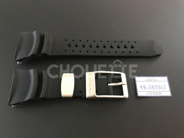 Citizen 29mm Black Rubber Watch Band for Eco-Drive Professional Diver BJ8050-08E
