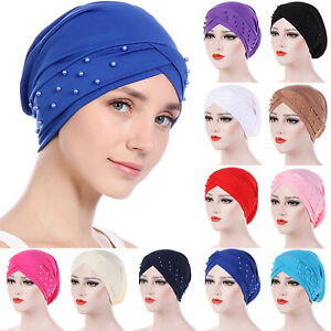 Women-Muslim-Frontal-Cross-Bonnet-Hijab-Turban-Hat-Chemo-Cap-Head-scarf-Headwrap