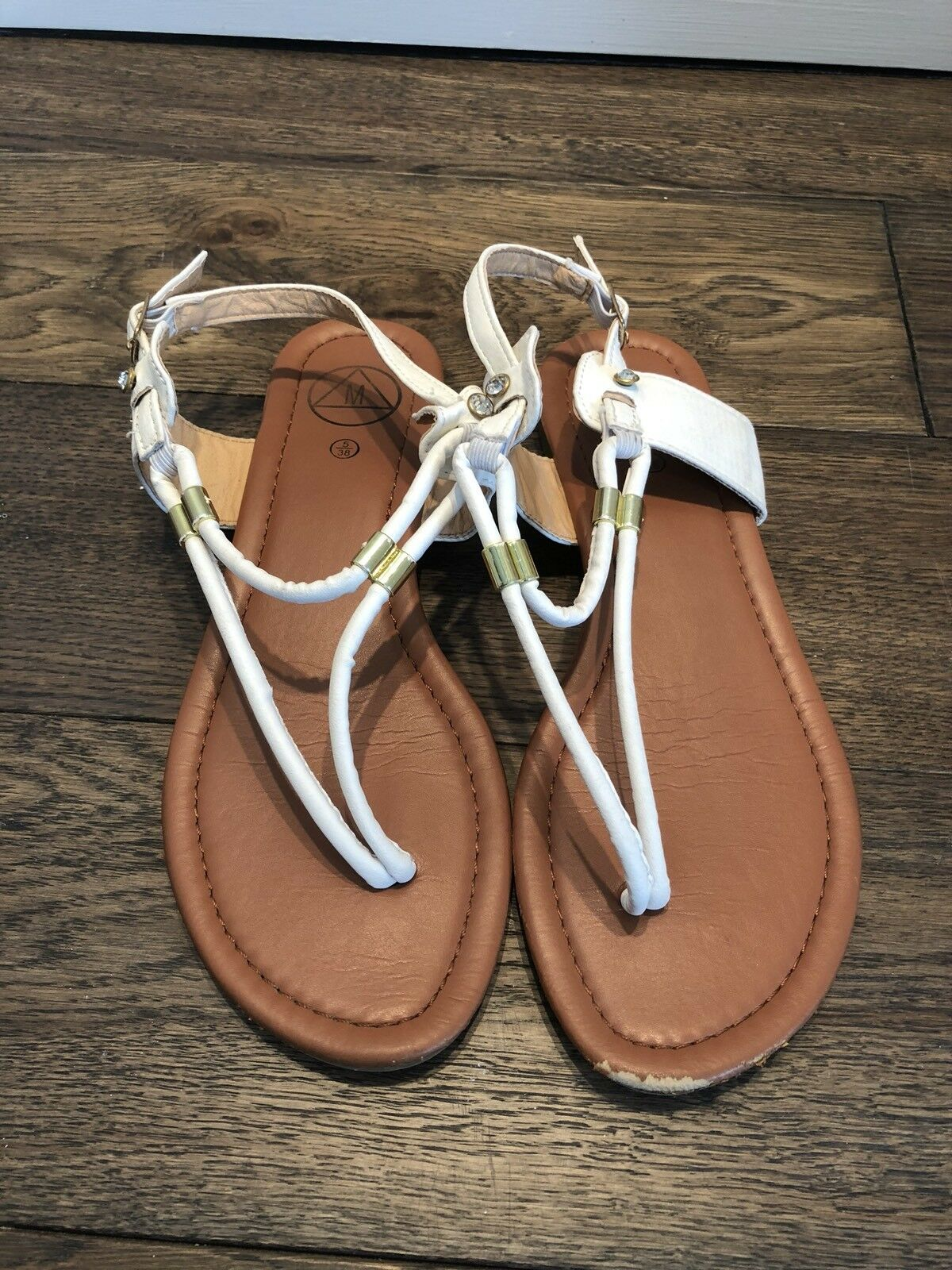 Mr/Ms Missguided White Sandals negotiation Clearance price Year-end sale negotiation Sandals 073768