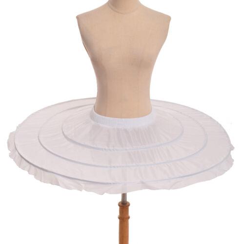 Lady Ballet Skirt Crinoline Hoop Bustle Skirt Pannier Tutu Skirt Petticoat