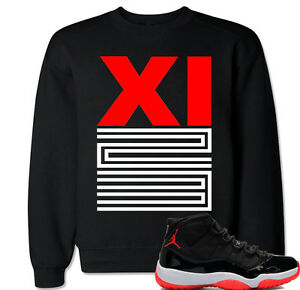 quality design b04b1 2c0f7 Details about XI 23 Red Sweater to match with Air Jordan 11 Retro 11 Bred  Black Red OG Shoes