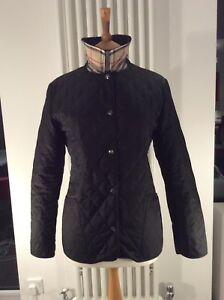 743e69e7e7000 Details about Geniune Burberry Black Diamond Quilted Jacket - Check Lining,  UK 12. RRP £450