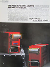 9/1990 PUB LOCKHEED AIRCRAFT SOLID STATE RECORDER DIGITAL FLIGHT DATA COCKPIT AD