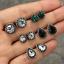12-Pairs-Women-Rhinestone-Crystal-Pearl-Earrings-Set-Women-Ear-Stud-Jewelry thumbnail 40