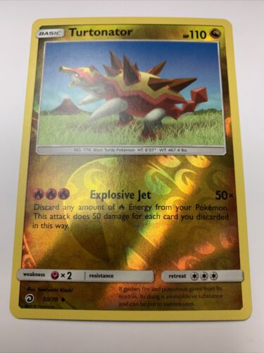Pokemon TCG Turtonator 50//70 Dragon Majesty Reverse Holo