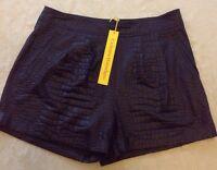 Catherine Malandrino Black Esty Cuffed Shorts Size 8