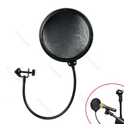Microphone Studio Wind Screen Pop Filter Mask Shied Flexible 360° Rotation