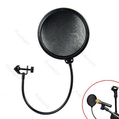 Microphone Studio Wind Screen Pop Filter Mask Shied Flexible 360° Rotation