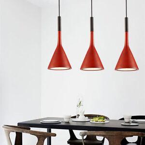 Details About Kitchen Pendant Light Red Chandelier Lighting Bar Lamp Bedroom Led Ceiling Light