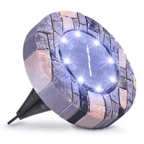 LED Solarlampe Bodenstrahler Bodeneinbauleuchte Gartenlampe Außenleuchte Weiß
