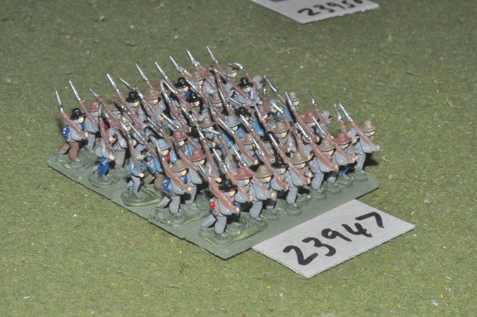 15mm ACW   confederate - regiment 45 figures - inf (23947)