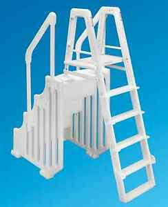 Tremendous Details About Ocean Blue 38 Mighty Step Ladder Set Aboveground Swimming Pool Entry System Creativecarmelina Interior Chair Design Creativecarmelinacom