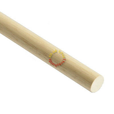 SOLID OAK DOWELS 2.4M - VARIOUS SIZES & FINISHES - UNBEATABLE PRICE & QUALITY