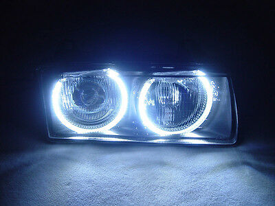 *collemoell* DEPO LED Angel Eyes HELLA Projector Glass Headlight For BMW E36