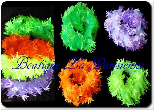 Haargummi XL Haarband Zopfband  Zopfgummi Chiffon  Stoff 11cm Deutschland Neon