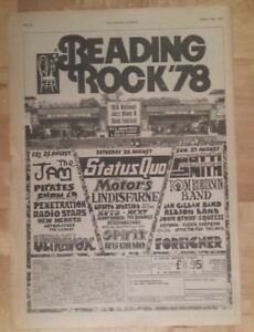 Reading-festival-Jam-Patti-Smith-1978-press-advert-Full-page-28-x-39-cm-poster