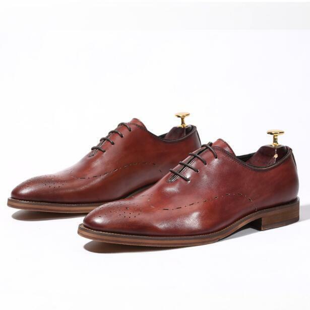 Herrenschuhe Bräutigam Chukka Oxfords Hochzeit Retro Lederschuhe Business-Schuhe