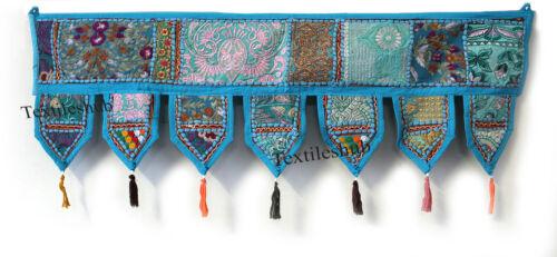 Vintage Indian Wall Hanging Patchwork Toran Embroidery Door Valances Decorative