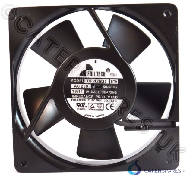 Metal Frame Axial Square Fan Motor 120 X 120 X 38mm Uf120a23bhw 230v Mains Power