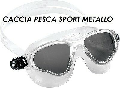 Occhialini Cressi Cobra Adulto Swim Nuoto Piscina Maschera Snorkeling Bianco