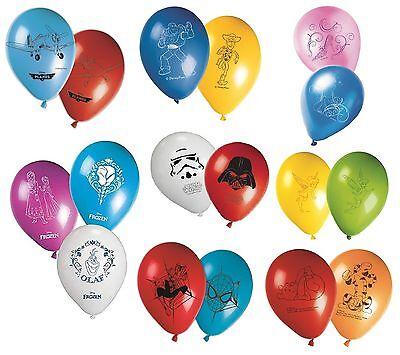 "CHARACTER (Disney) 8 x 11"" LATEX BALLOONS (Helium) Birthday Party Supplies"