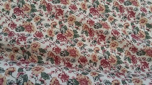 Wide-Soft Javanaise Viscose Fabric-Pretty Floral Design NEW-142cm//56inches