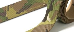 "45mm - 1.75"" Type 13 Double Sided Crye Multicam Webbing (belt - 7000lbs strength"