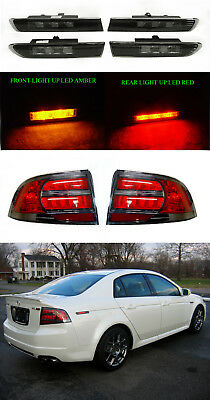 DEPO Type-S Smoke LED Side Marker + Tail Light Set For 04 05 06 07 08 Acura TL