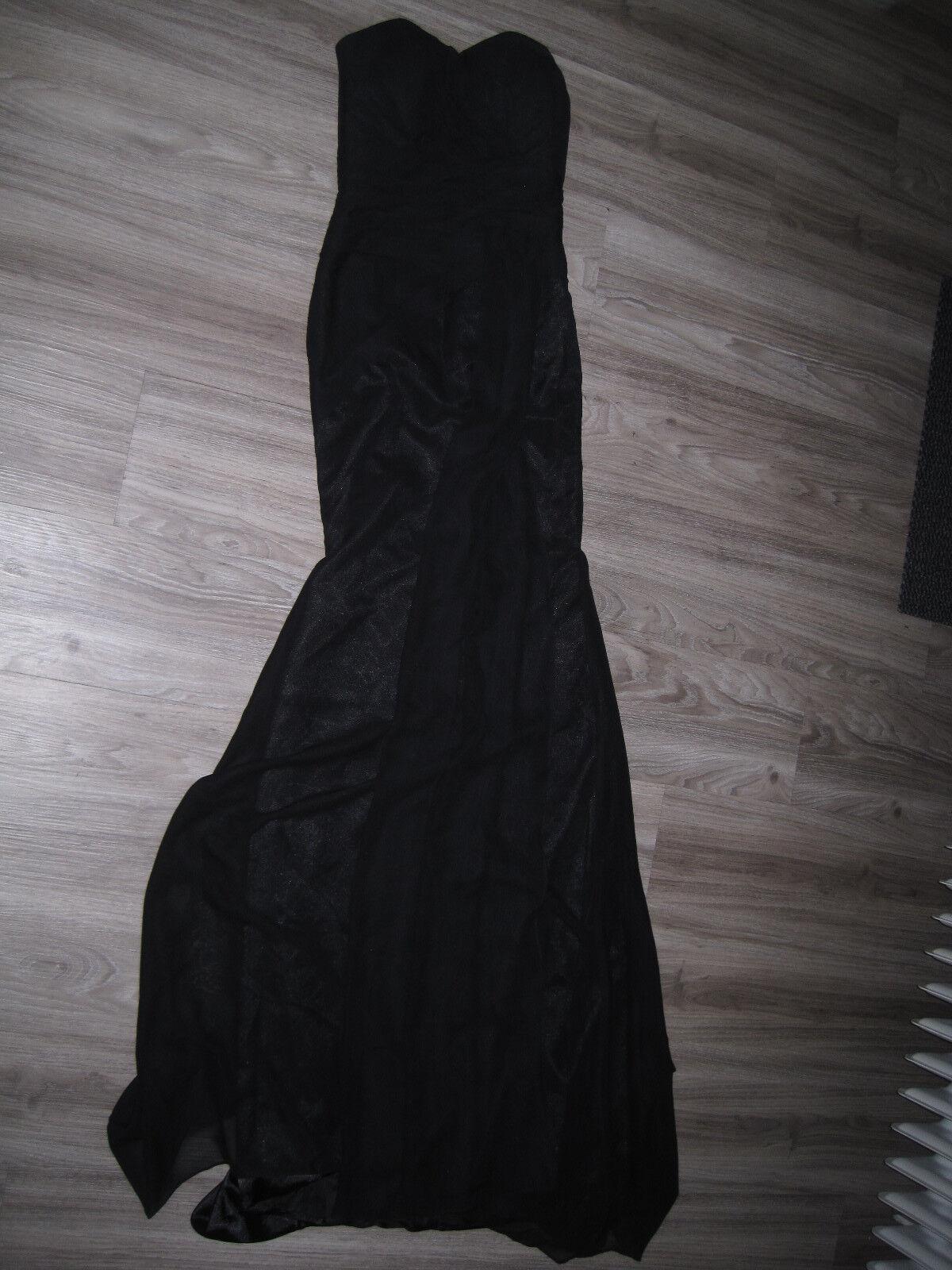 Party Abend Party Coctäil Long Schleppe Chiffone Kleid XS 34 36 Neu