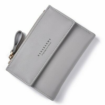 Fashion Women Card Coin Holder Leather Bifold Wallet Clutch Zipper Purse Handbag