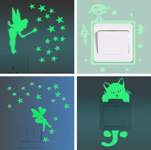Lichtschalter-Umrandung-Aufkleber-nachts-leuchtend-Deko-Sticker-fluoreszierend