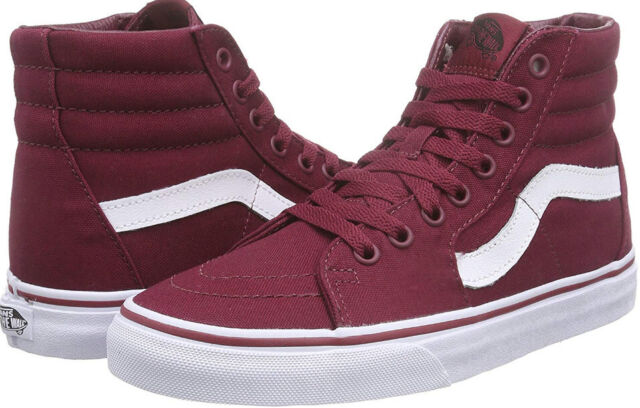 8ab44a5f700c72 VANS Sk8-hi Shoes Vn000ts9gez Cordovan white Burgundy Maroon Men US ...