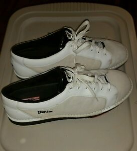 a2fdaabb8f3 Dexter Mens SST 5 White Left Handed Bowling Shoes size 15 m used