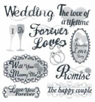 Handmade Glitter Sticker Scrapbooking Wedding Themed Forever Love