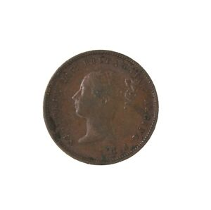 Raw-1844-Great-Britain-Half-1-2-Farthing-Coin