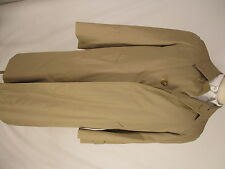 Aquascutum Mens Single Breasted Beige Trench Coat Size 40 England Made