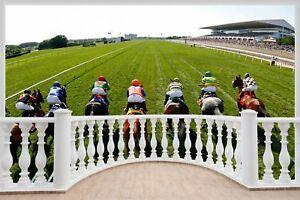 Huge-3D-Balcony-Horse-Racing-Wall-Stickers-Mural-Decal-Wallpaper-290