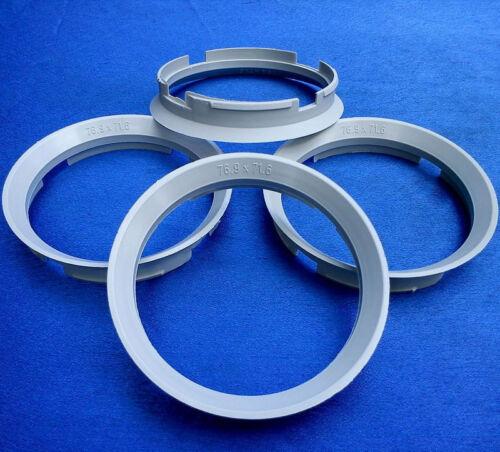 71,6 mm grau für Alufelgen 4x Zentrierringe 76,9 Z30D